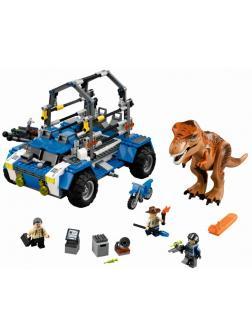 Конструктор Ll «Погоня за Ти-Рексом» Парк Юрского периода Jurassic World 79095 (75918), 538 деталей