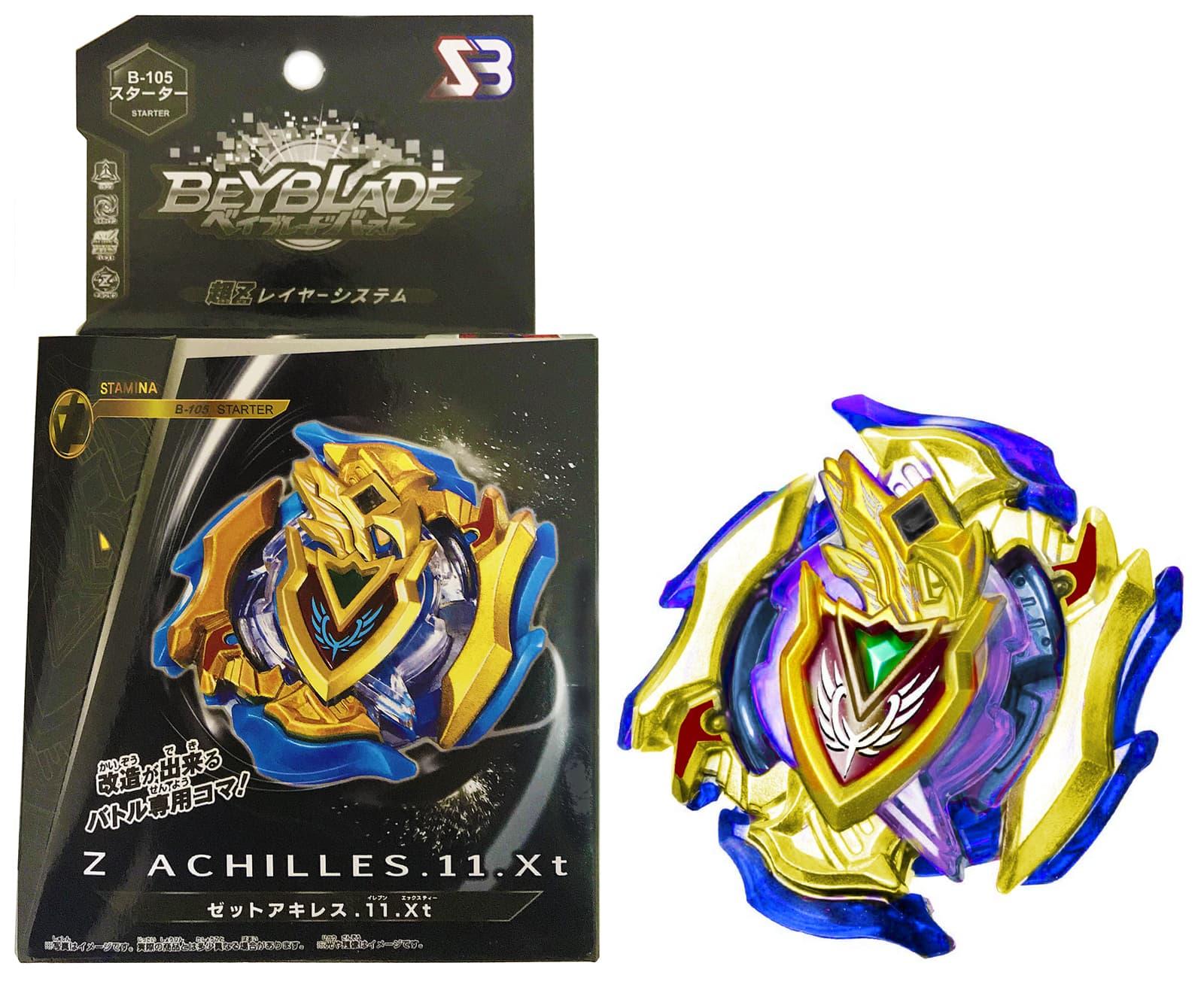 Волчок BEYBLADE  Burst Супер Зет Голд Ахиллес (Z Achilles 11.Xt Super Z Gold) B-105 от SB с Запускателем