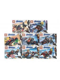 Набор 8 фигурок с транспортом Супергерои (Мстители 4014)