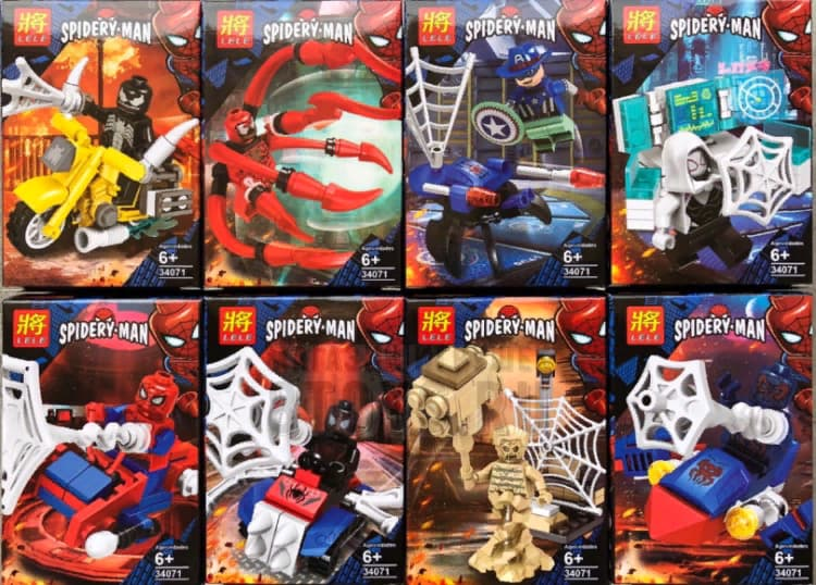 Набор 8 фигурок Супергерои (Человек Паук 34071)