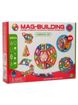 Магнитный конструктор MAG-BUILDING / 59 деталей