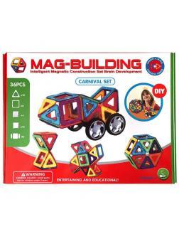 Магнитный конструктор MAG-BUILDING / 36 деталей