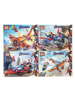 Набор 4 фигурки и транспорт Супергерои (Мстители 6011)