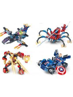 Набор 4 фигурки и аксессуары Супергерои (Мстители LB542-1)