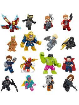 Набор 16 фигурок Супергерои (Мстители 34067)