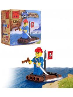 Конструктор Enlighten «Пиратский плот» 1201 / 34 детали