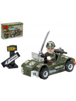 Конструктор Enlighten «Военная машина с фигуркой» 803 Combat Zones / 51 деталь