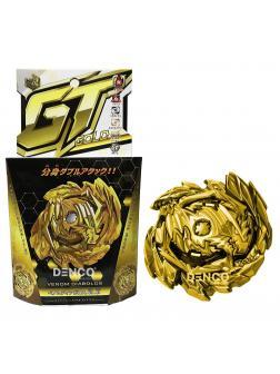 Правосторонний Волчок Веном Диаболос Золотой (Venom Diabolost Gold) B00-145 от Flame с запускателем