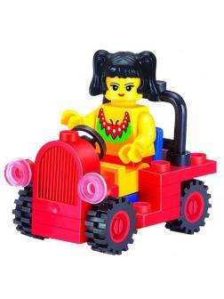 Конструктор BRICK Enlighten «Девочка в автомобиле» 1205 / 34 детали