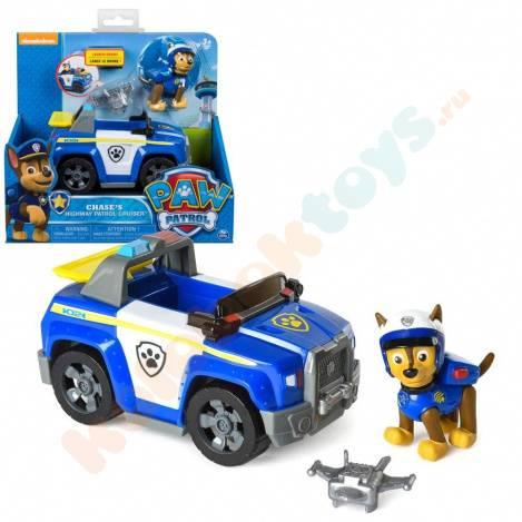 Игрушка Щенячий патруль «Машина спасателя патрульный крейсер и щенок Чейз» 16601-Chase