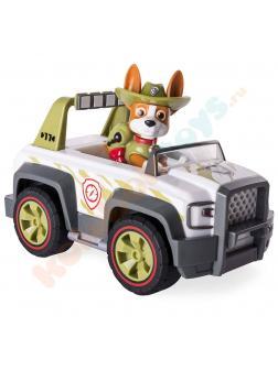 Игровой набор Щенячий патруль «Машина спасателя и щенок Трекер» Серия Джунгли 16601-Tracker