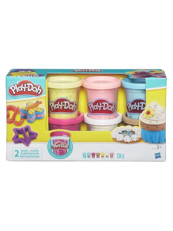 Игровой набор Play-Doh 6 баночек с конфетти B3423EU6