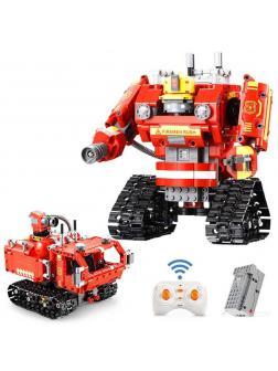 Конструктор Cada 2 в 1 «Пожарный робот-трансформер» 527 деталей / C51048W