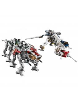 Конструктор Lp «Десантный корабль республиканцев и шагающий робот AT-OT» 05053 (Star Wars 10195) / 1788 деталей