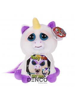 Мягкая игрушка Feisty Pets «Злой / Добрый Единорог Блестящая Гленда»  / 22 см.