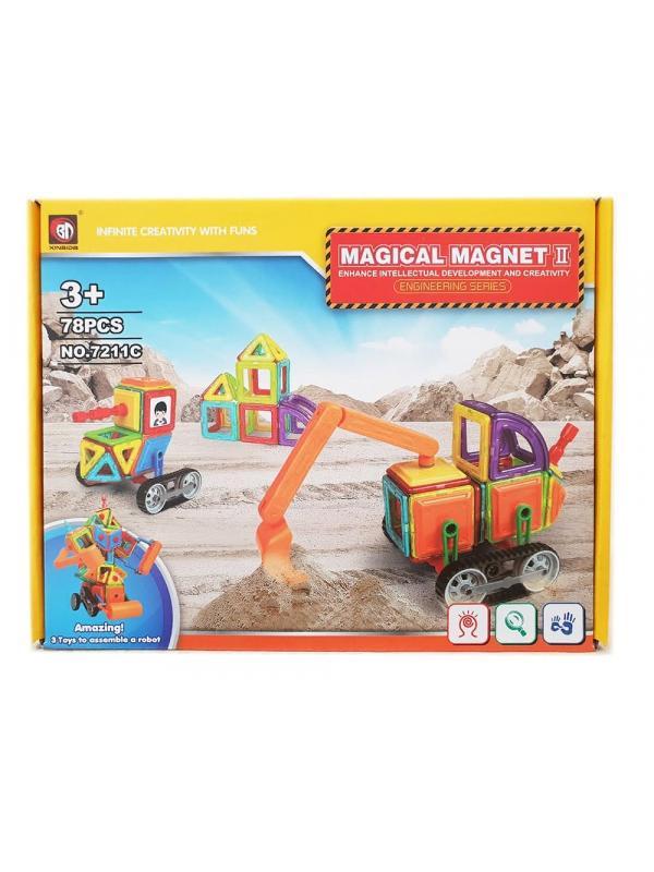 Магнитный конструктор «Magical Magnet 2» 7211С 78 деталей