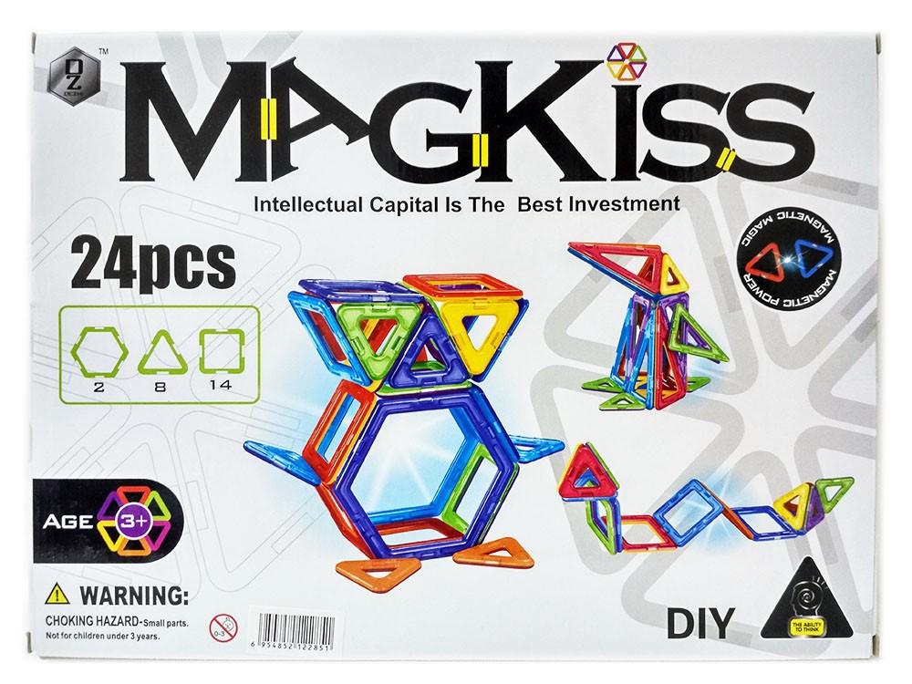 Магнитный конструктор «MagKiss» HD331A 24 детали