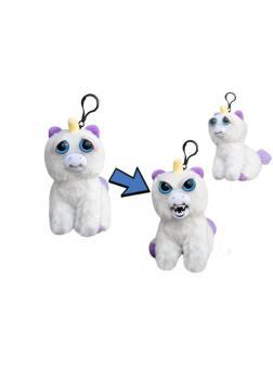 Мягкая игрушка «Злой / Добрый Единорог Блестящая Гленда белый с карабином» 11 см. FP015M