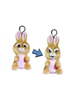 Мягкая игрушка «Злой / Добрый Заяц коричневый с карабином» 11 см FP004M