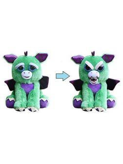 Мягкая игрушка «Злой / Добрый Дракон с крыльями зелёный» 20 см. FP017