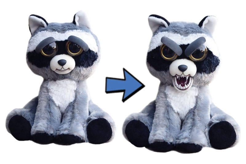 Мягкая игрушка «Злой / Добрый Енот серый» 20 см. FP021