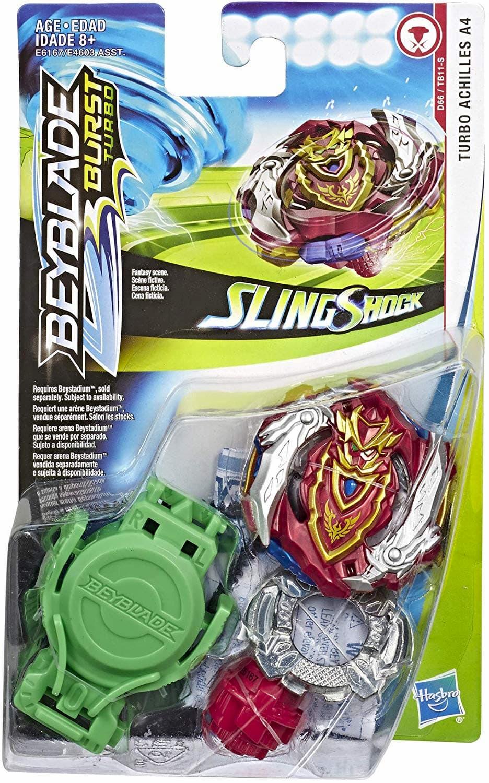 Волчок BEYBLADE Burst SlingShock Турбо Ахиллес A4 (Turbo Achilles A4) B-129 от Hasbro с Запускателем