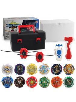 Набор Wbba. Official Blader's Box Gachi с 10 Волчками, Кейс-боксом и Пускателями от SB / Flame