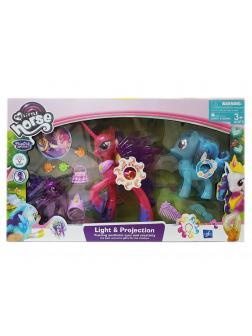 Игровой набор My Little Pony «Сумеречная искорка» 20 см. и 2 пони 2031-1