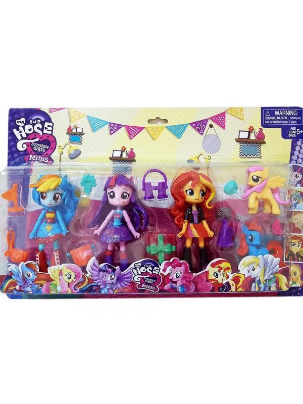 Игровой набор My Little Pony «Куклы Эквестрия герлз» и 2 пони 69804