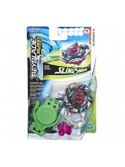 Волчок БЕЙБЛЭЙД СлингШок Адская Саламандра С4 (Salamander S4 12 Operate-S) E4731 от Hasbro с Запускателем