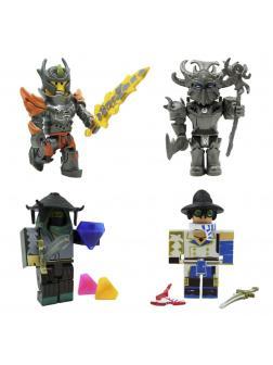 Набор из 4-х фигурок Роблокс (Mad Games: Adam, Monster Islands: Malgorok'Zyth, Archmage Arms Dealer, Flame Guard General) 42113