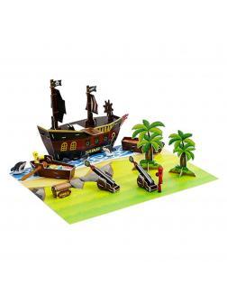 Комплект Стикбот «Пиратский корабль» 15005
