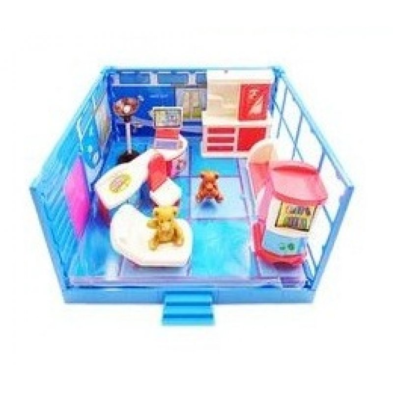 Игровой набор Модульная комната «Кабинет» с эффектами 12 предметов PT-00913
