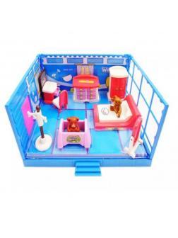 Игровой набор Модульная комната «Спальня» 11 предметов, с эффектами PT-00911