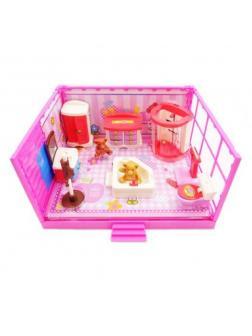 Игровой набор Модульная комната «Ванная» 11 предметов, с эффектами, на батарейках PT-00910