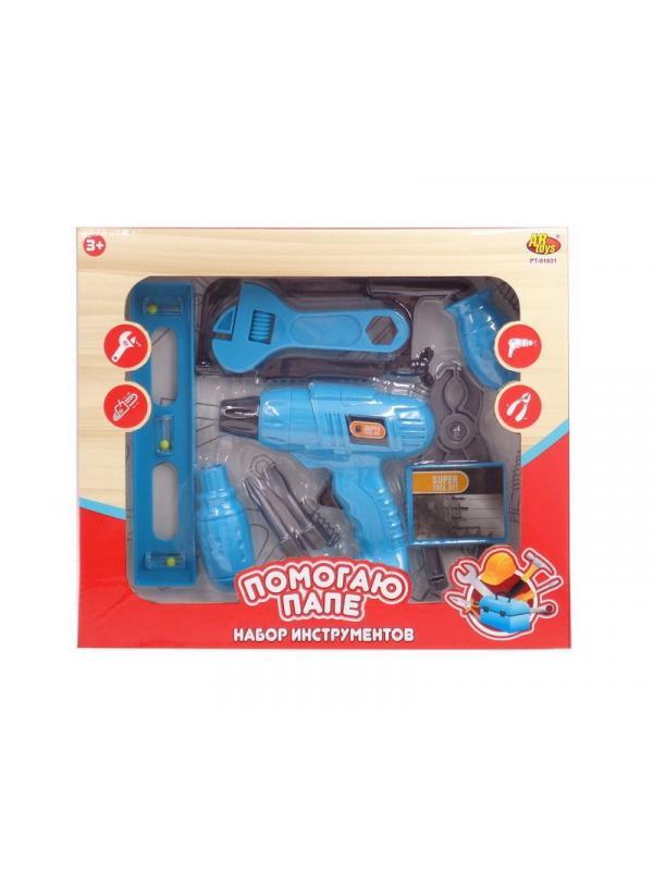 Игровой набор инструментов с дрелью PT-01031