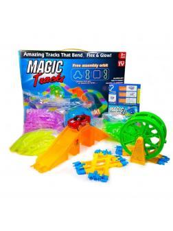 Светящийся гибкий трек MAGIC TRACKS 301 деталь + Гоночная машина