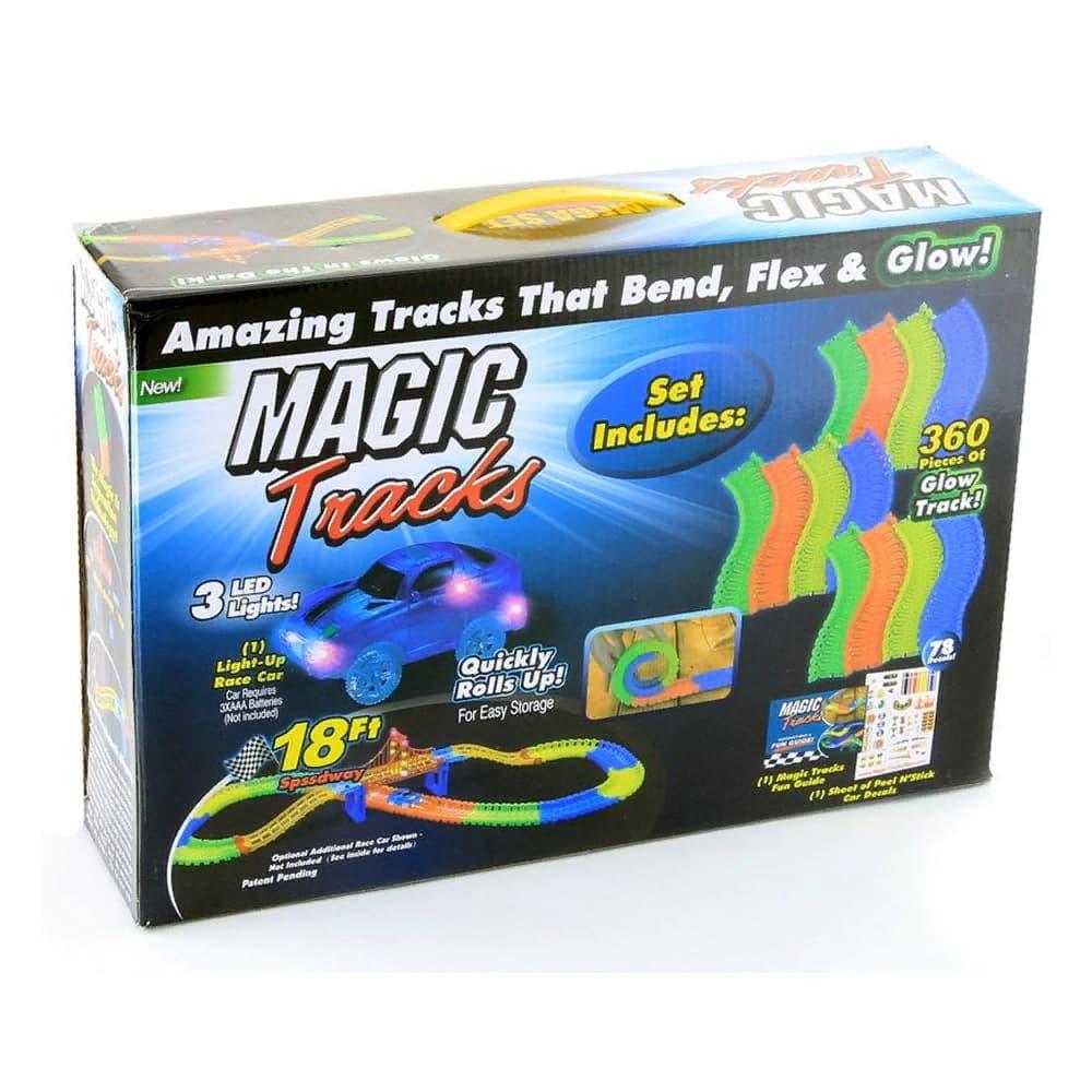 Светящийся гибкий трек MAGIC TRACKS 360 деталей + 2 гоночные машинки
