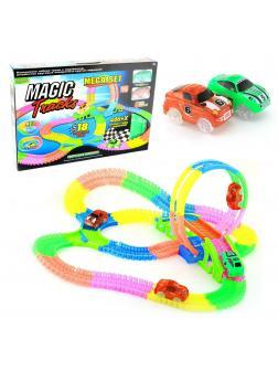 Светящийся гибкий трек MAGIC TRACKS 446 деталей + 2 гоночные машинки