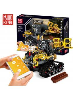 Конструктор Mould King «Гусеничный погрузчик» на радиоуправлении 13034 (Technic 42094) / 873 детали