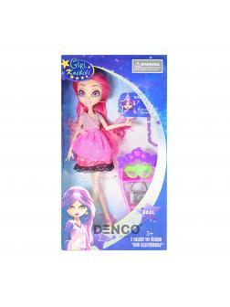 Кукла Girl Kaibibi «Модница» в малиновом платье 29 см. с аксессуарами