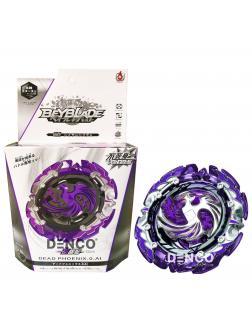 Волчок BEYBLADE Burst Фиолетовый Дед Феникс (Dead Phoenix) В00-131 от Flame с Запускателем
