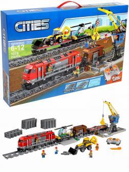Конструктор «Мощный грузовой поезд» 28033 (City 60098) / 1078 деталей