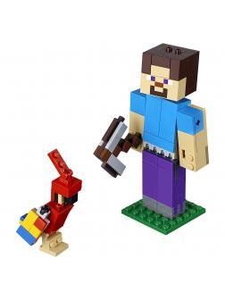 Конструктор Bl «Стив с попугаем» 11166 (Minecraft 21148) / 159 деталей