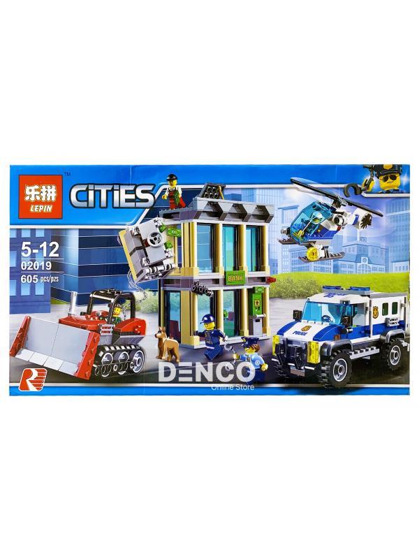 Конструктор Lp «Ограбление на бульдозере» 02019 (City 60140) / 606 деталей