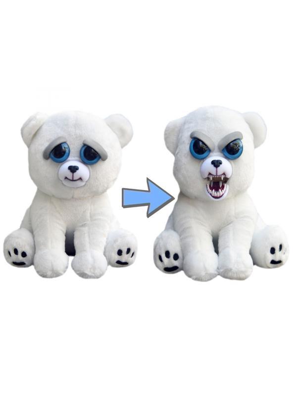 Мягкая игрушка Feisty Pets Злой / Добрый «Полярный Медведь Рычун Карл» / 22 см.