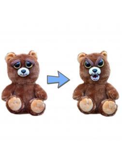 Мягкая игрушка Feisty Pets Злой / Бурый Медведь «Сэр много рычит / Sir Growls-a-lot» Хищники / 22 см.
