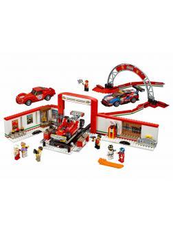 Конструктор Bl «Гараж Ferrari» 10947 (Speed Champions 75889) / 883 детали