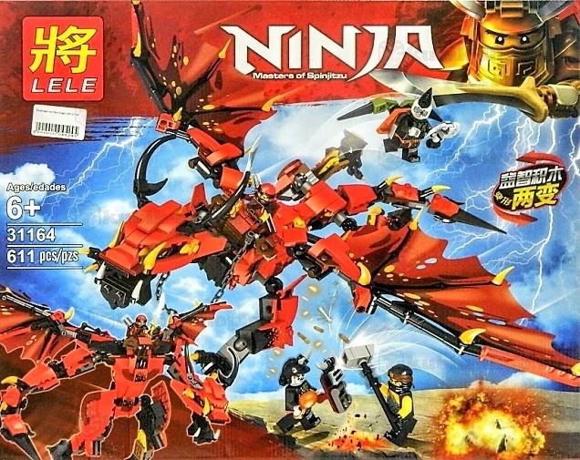 Конструктор Ll «Красный Дракон» 31164 (НиндзяГо) 611 деталей