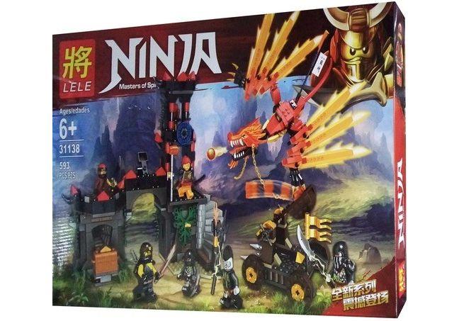 Конструктор Ninja «Нападение красного дракона» 31138 (НиндзяГо) 593 детали